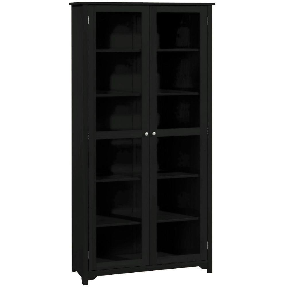 home decorators collection oxford 36 in. w black 6-shelf bookcase