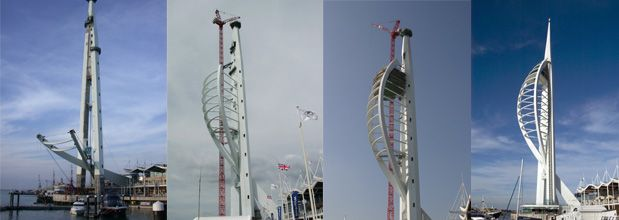 Went up the Spinnaker Tower in a hard hat, during construction | Weird and  wonderful, Construction, Tower