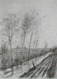 Acequia-Dibujo juvenil (1872-73) Vincent Van Gogh-La Haya