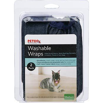 Petco Washable Wraps Diapers For Dogs Click Image To Review More Details This Is An Amazon Affiliate Link Dog Training Pads Dog Training Collar Dog Diapers