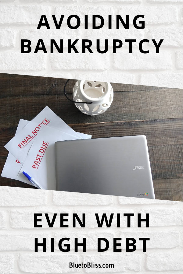 Avoiding Bankruptcy Even With High Debt In 2021 Bankruptcy Personal Finance Organization Debt