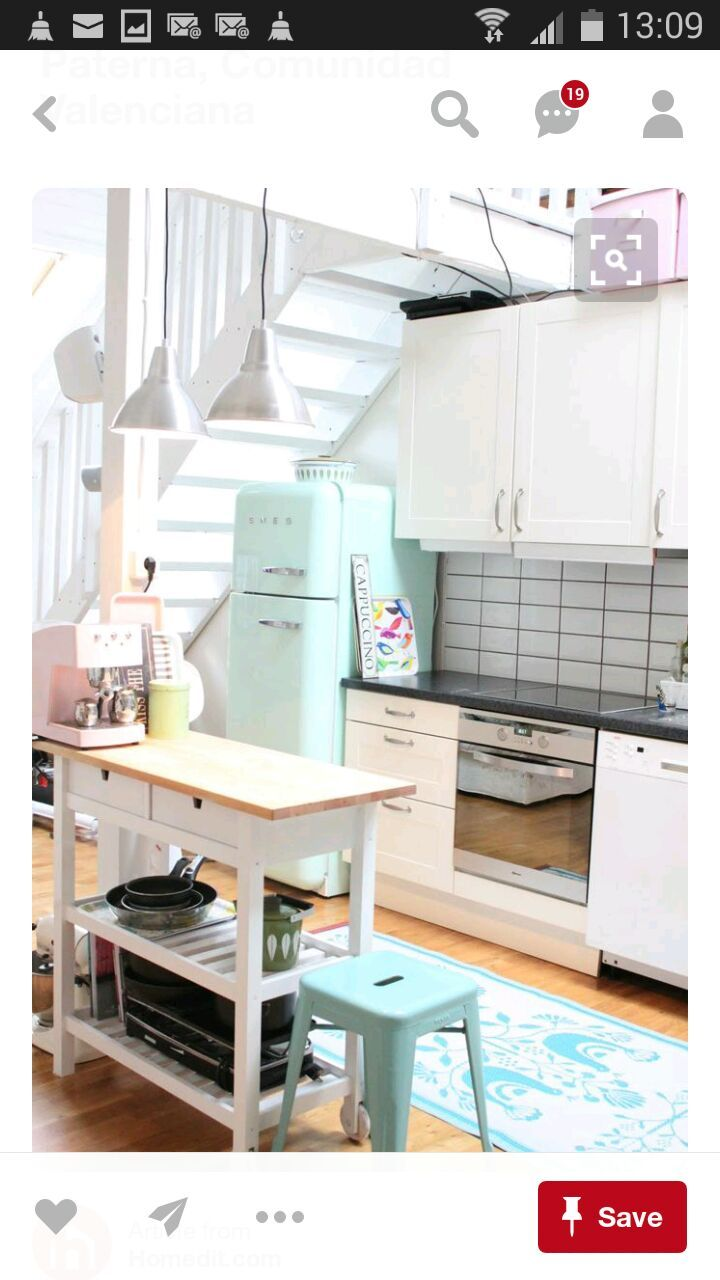 Loft Ides: Love The Vintage Style Too   Sweet Like Candy: Add A Pop Of  Pastel To Your Kitchen