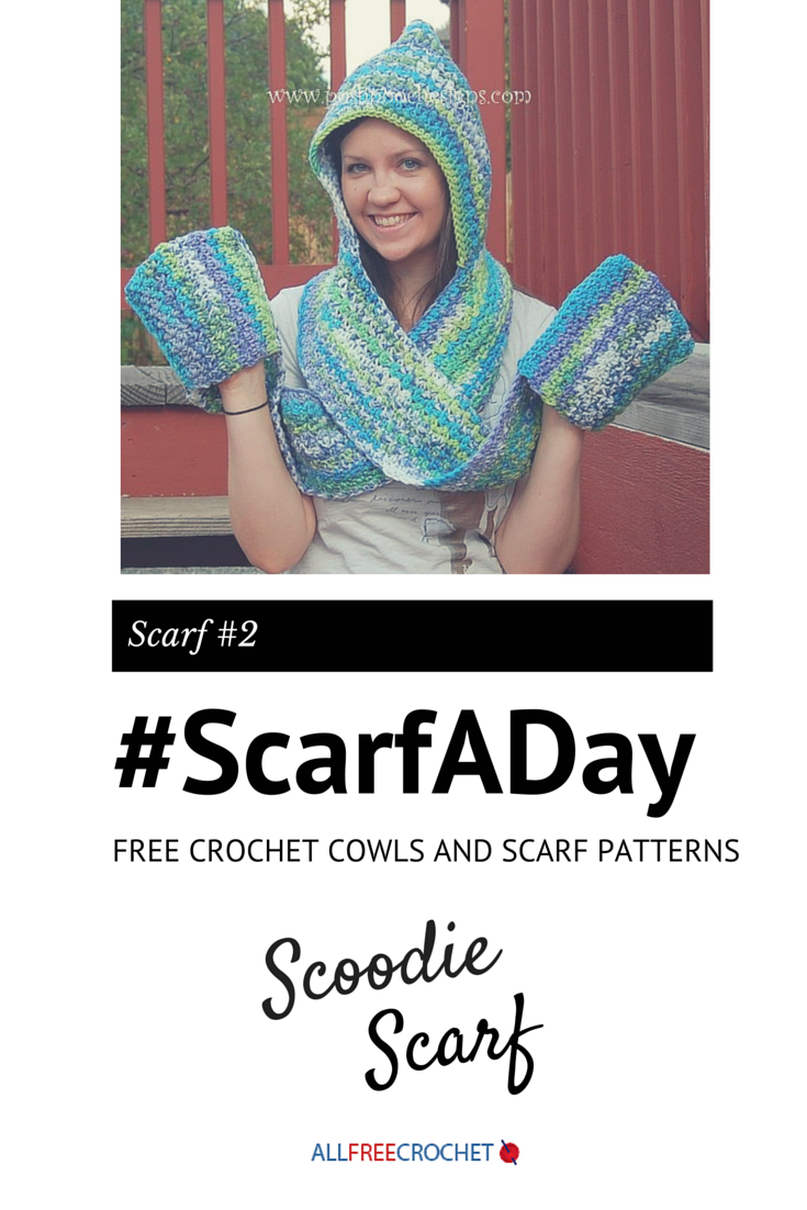 Scoodie - Hooded Scarf With Pockets | Pinterest | Gorros de crochet ...