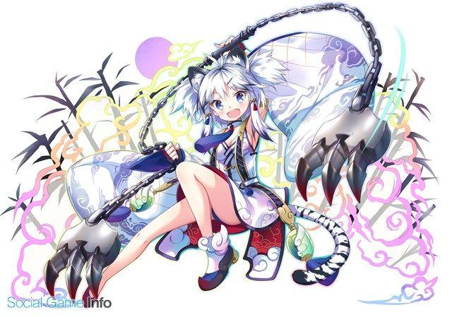 ゲームオン どこでもダンジョン でレイドイベント 四神来襲 剛爪の虎妃 を開催 ガチャイベント 精霊降臨祭 レイドver も実施 social game info anime warrior girl anime anime monsters