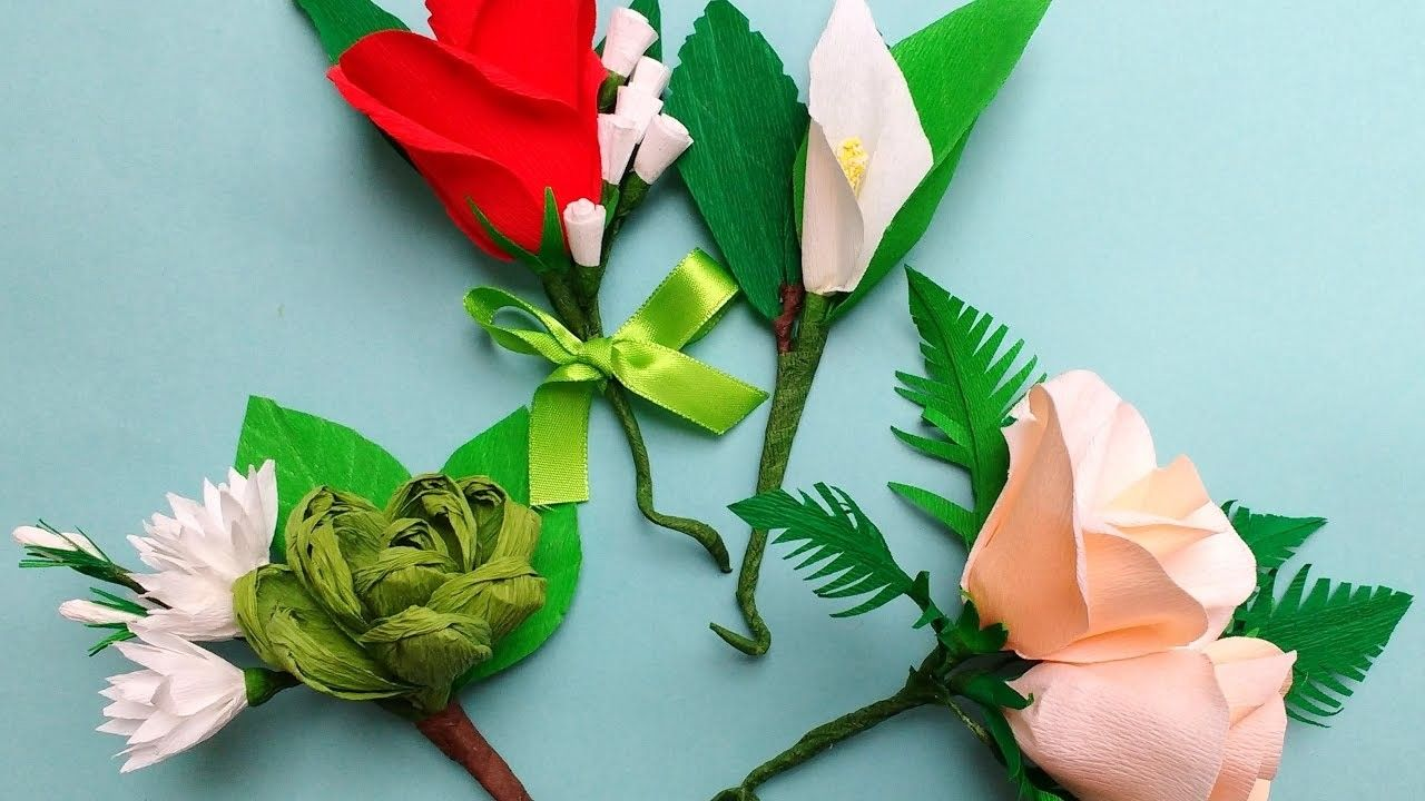 Diy How To Make Easy Paper Flowers Corsage Boutonniere
