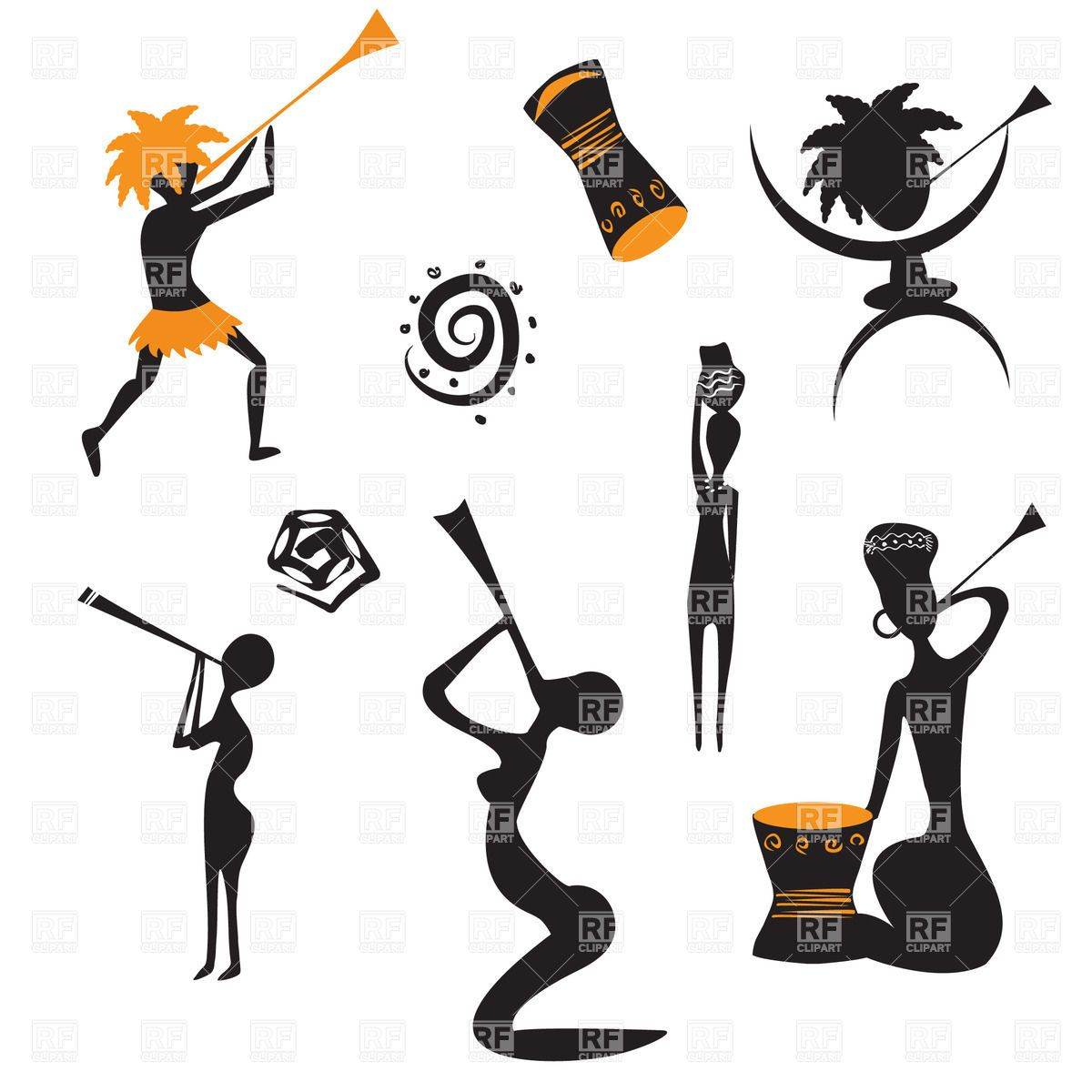 abstract african native people 21167 people download royalty rh pinterest com Modern Dance Clip Art Contest Clip Art
