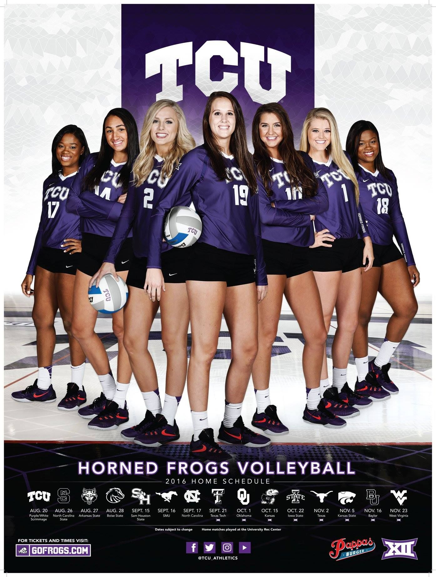 Tcu Volleyball Tcu Volleyball Tcu Athlete