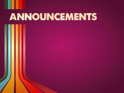Announcements Video Loop - YouTube Loops  Music Church