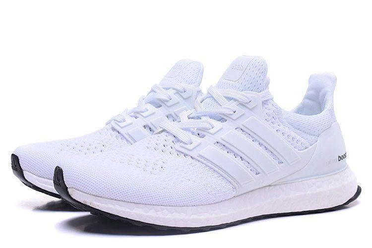 sale retailer 9ebb0 bfb40 Adidas Yeezy Ultra Boost Alle Hvid