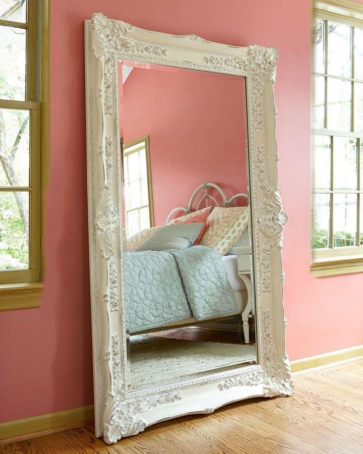 Antique White Floor Mirror On Sale For 50320 Interior