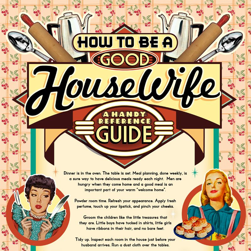 "Vibio entry of the great "" Good HouseWife poster"""
