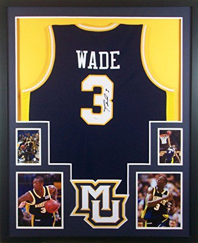 Amazing Dwyane Wade Framed Jersey Signed JSA COA Autographed Marquette Miami Heat  Mister Mancave Http:/
