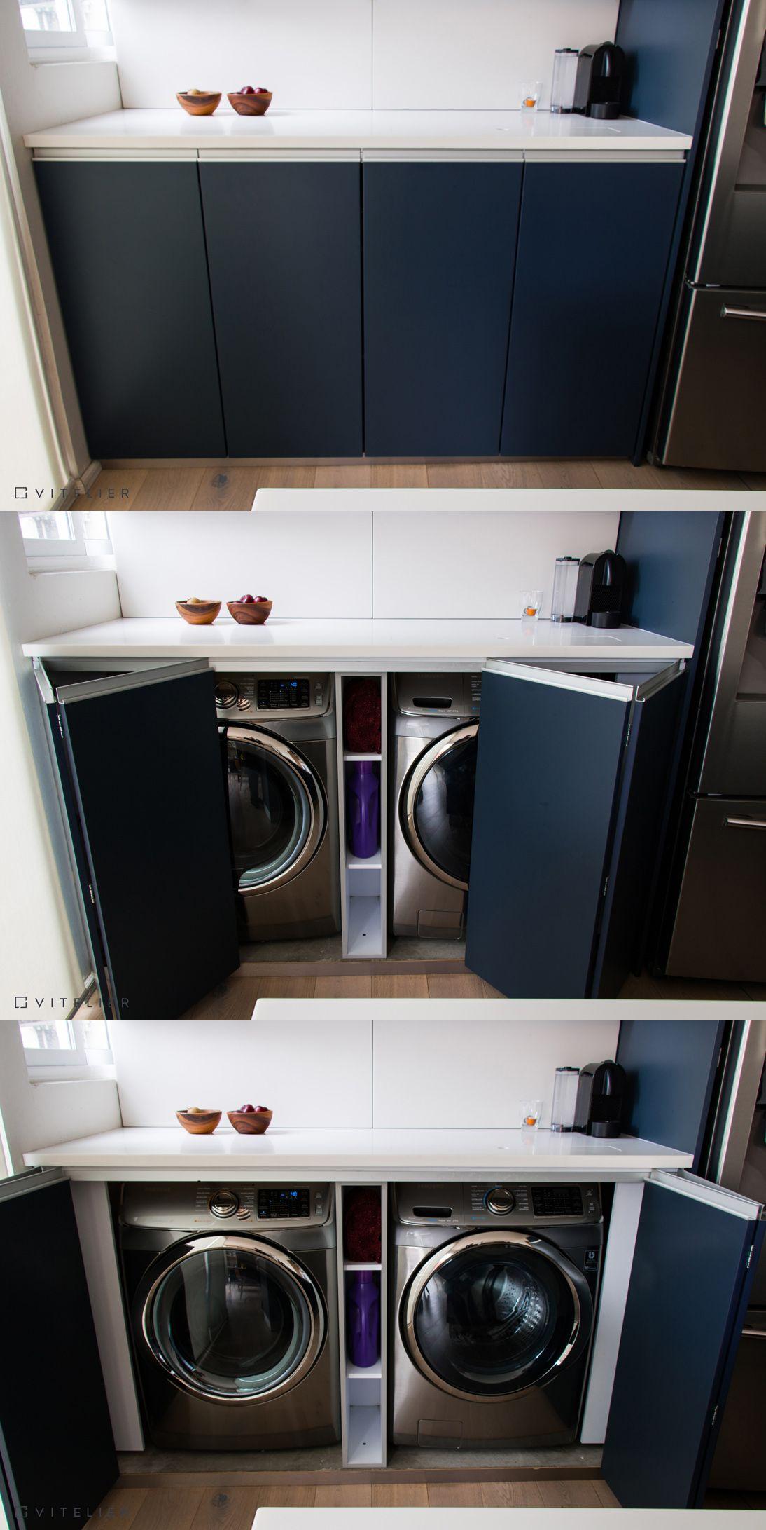 En espacios peque os integramos la lavadora y secadora dentro del rea de la cocina conservando - Armario para lavadora ...