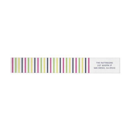 Bright And Colorful Stripes Pattern Wrap Around Label  Pattern