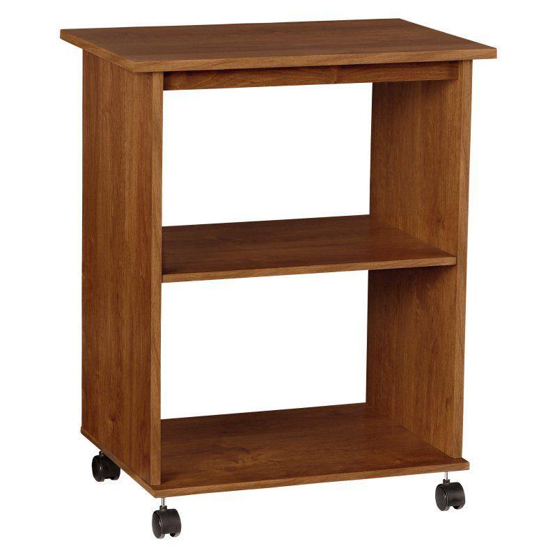 Ameriwood 2 Shelf Utility Cart Bank Alder 5702301p Products