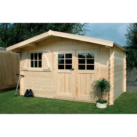 Abri de jardin en bois rouge, dans un esprit nordique    wwwm - construire un cabanon de jardin en bois