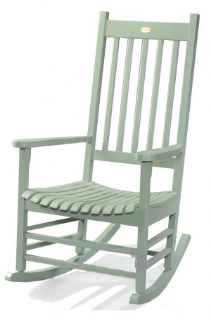 Somer S Point Solid Acacia Custom Painted Rocker In Moss Green