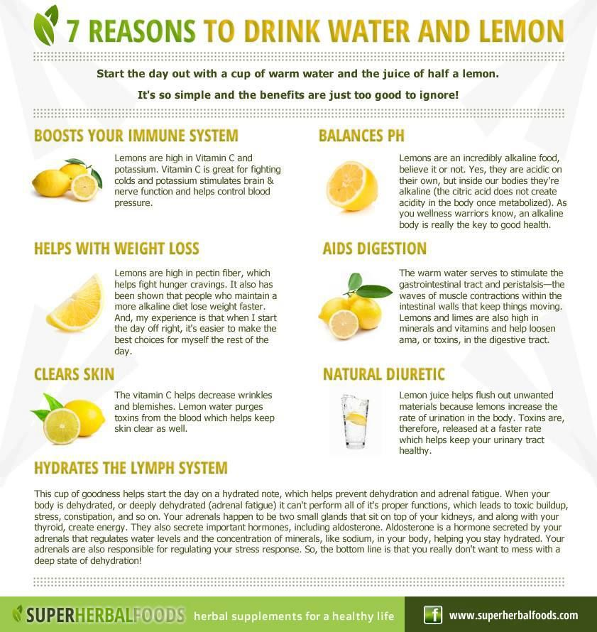 7 Reason To Drink Water And Lemon