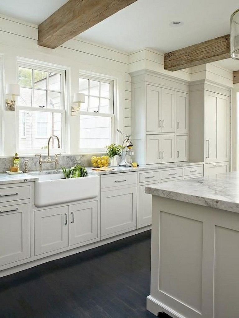 Antique White Kitchen Cabinets My Farmhouse In 2019 Antique