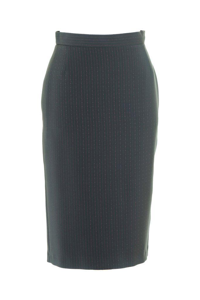 Busy Black Pencil Skirt