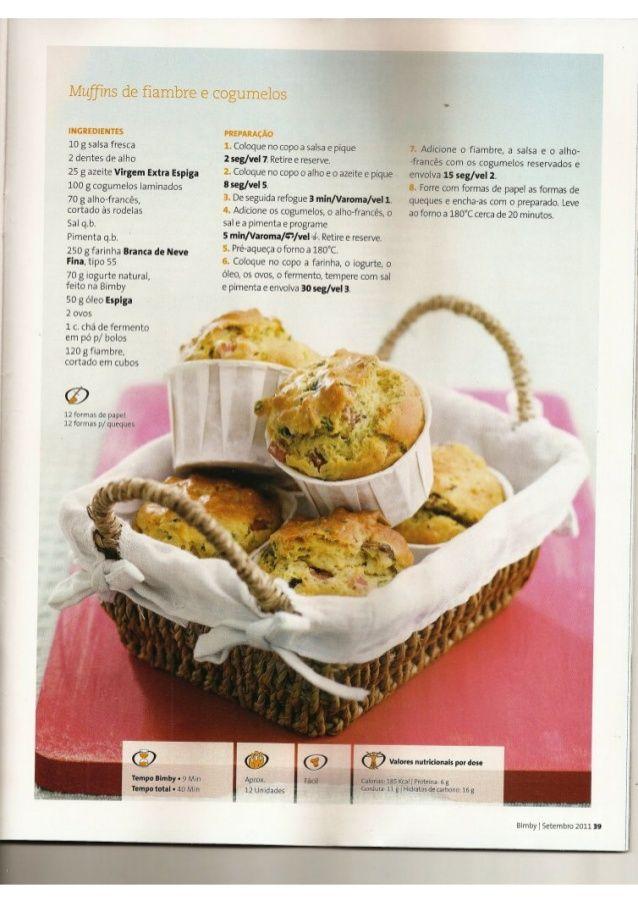 Muffins De Fiambre E Cogumelos Revista Bimby 2011 09 N10