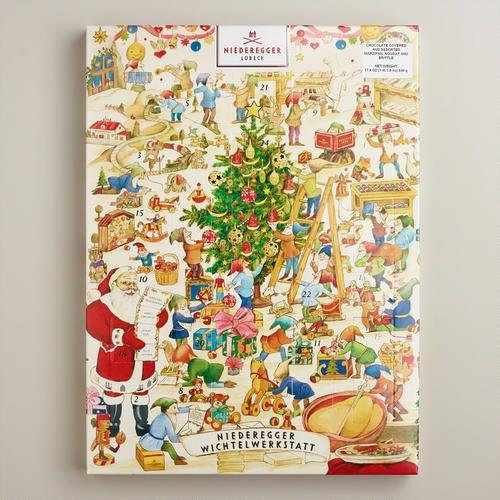 Niederegger Christmas Market Advent Calendar Marzipan