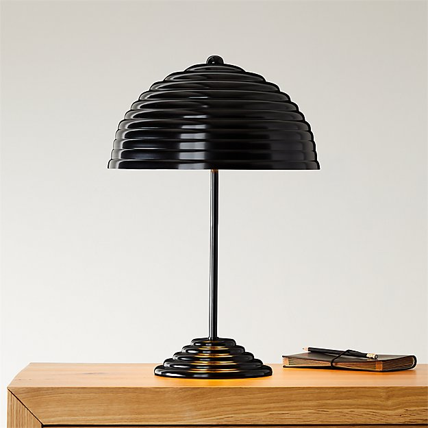 Ripley All Black Table Lamp Sold Out Reviews Cb2 Black Table Lamps Table Lamp Modern Table Lamp