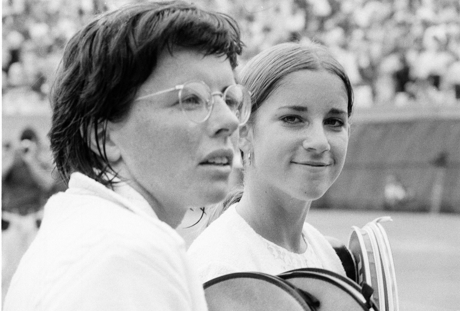Billie Jean King and Chris Evert reminisce about tennis careers
