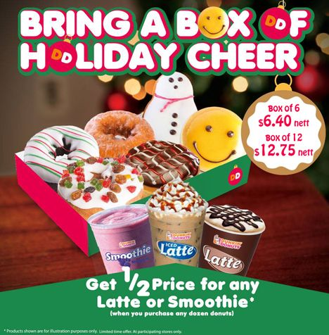 37 Off Dunkin Donuts Christmas Special Only 6 40 For A Box Of 6 Donuts Http Www Coupark Com Singapore Deal 108520 Dunkin Dunkin Donuts Dunkin Donuts