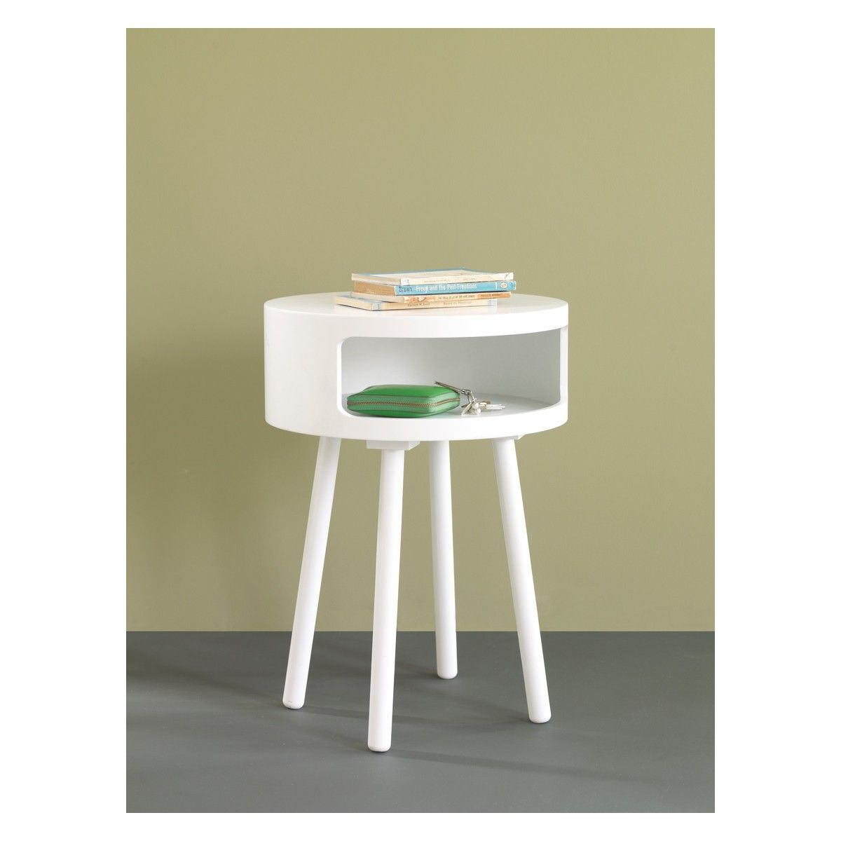 BUMBLE White side table with storage