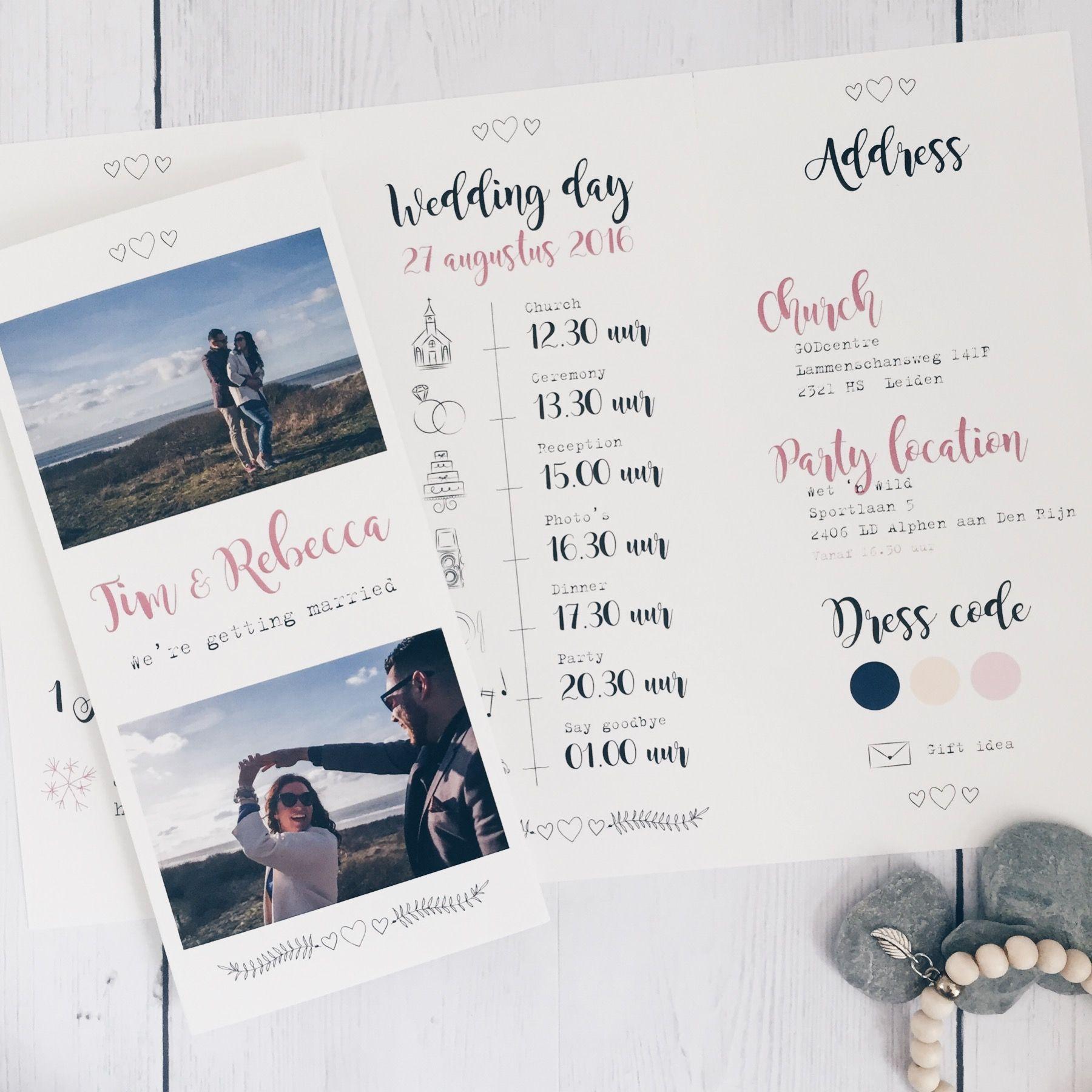 Trouwkaart • Summer wedding