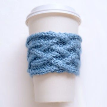 A Tight Knit Gathering Blog Celtic Plait Coffee Cup Sleeve Pattern