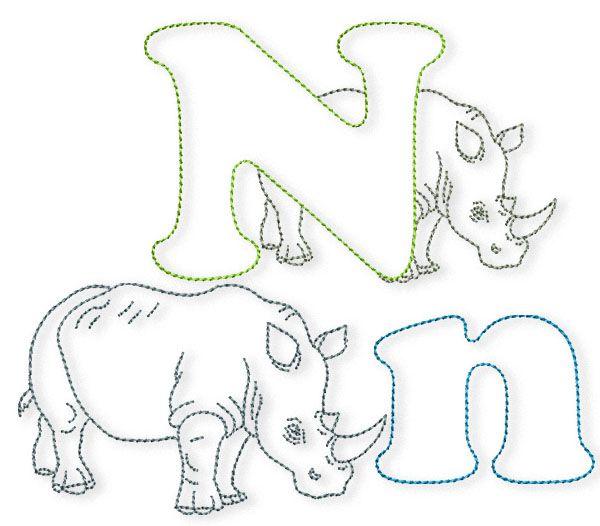 Das Dicke Nashorn Steht Hinter M N Bernina Blog Nashorn Basteln Nashorn Maschinenstickerei