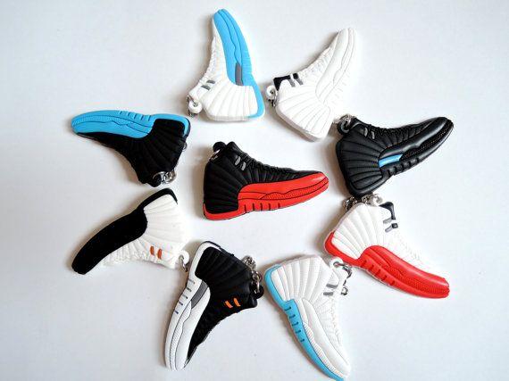 1 pc Air Jordan 12 Sneaker Keychain 9 by LittleCiciSupplies ... f204b3aad