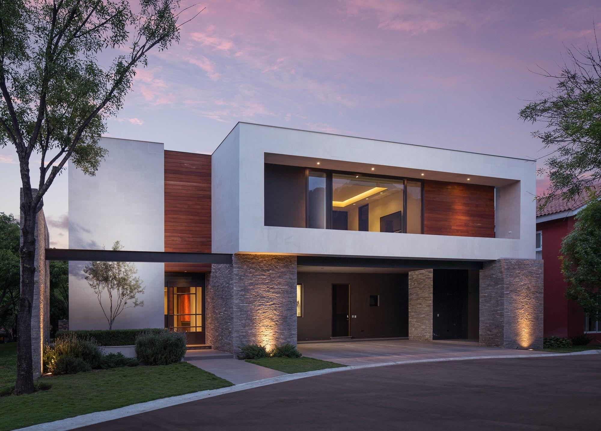 Pa vacio combinado madera y abertura palai franco - Casas arquitectura moderna ...