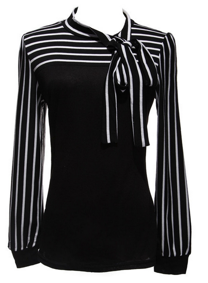 abd516b90 Women's Bowknot Striped Blouse - PLUS SIZES - 2 Colors | My Style ...