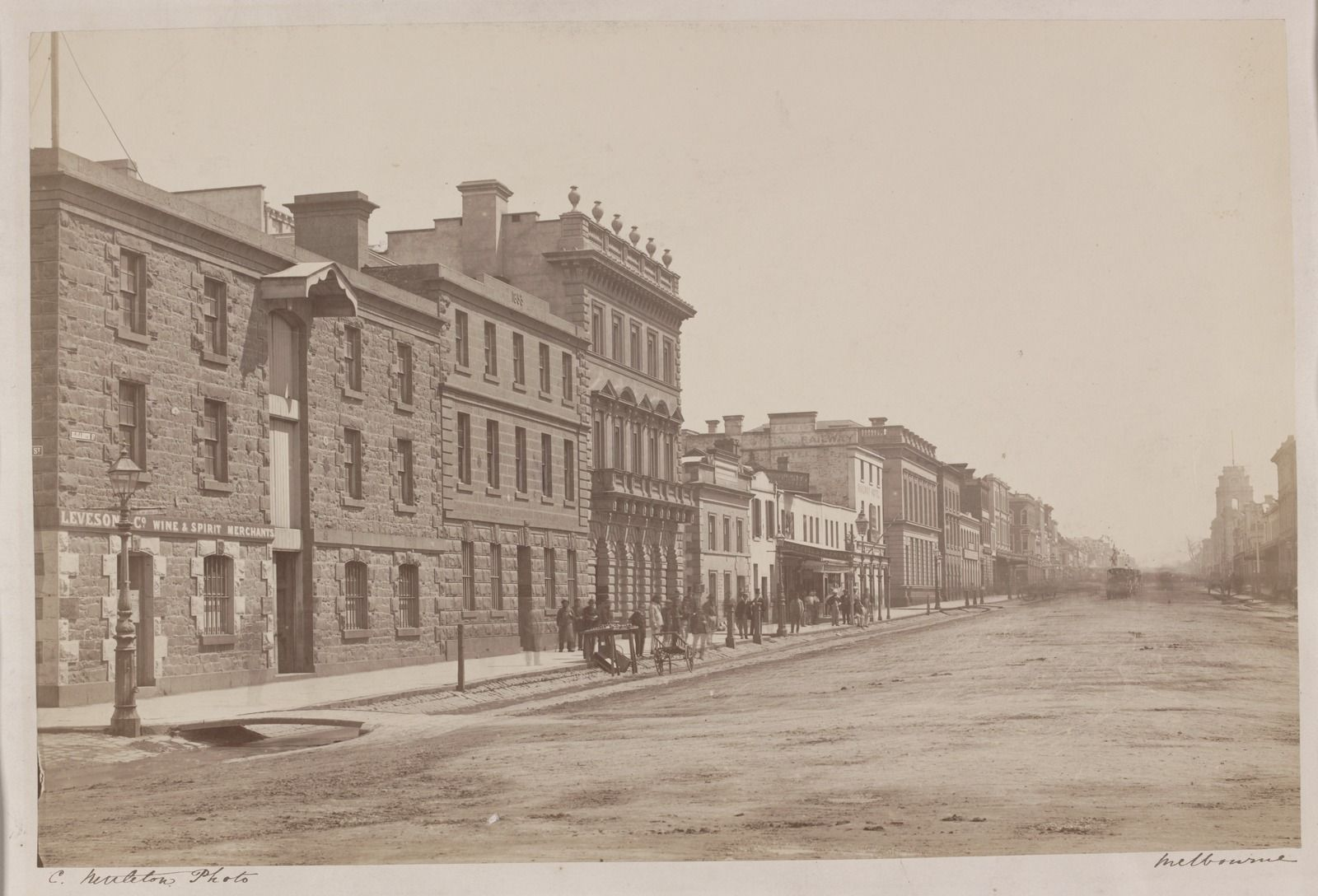 Elizabeth St, Melbourne, west side, looking north from