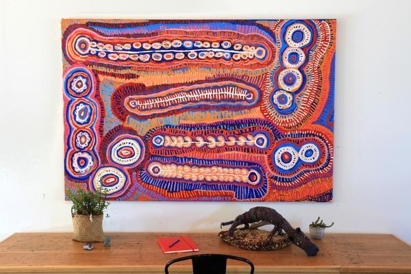 Murdie Nampijinpa Morris, Malikijarra Jukurrpa, 182x122cm - Art Ark Aboriginal…