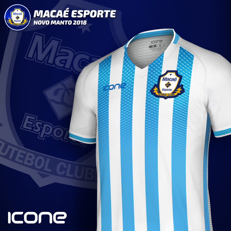 Uniforme 1 2018 da Macaé FC - RJ. Produzida pela Icone Sports o melhor  material 0c0c7b5a78d77