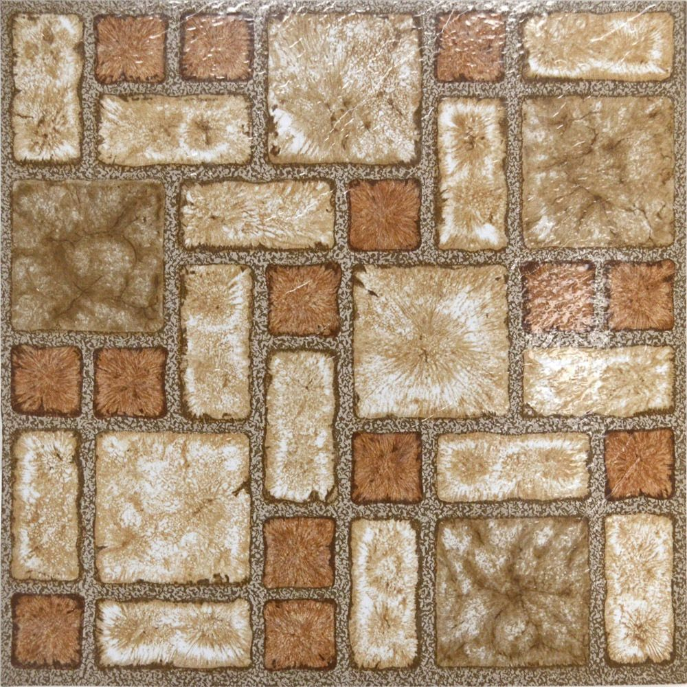 Stones Brown Vinyl Floor Tiles 40 Pcs Self Adhesive Flooring Actual 12 X 12 Vinyl Flooring Vinyl Tile Vinyl Flooring Installation