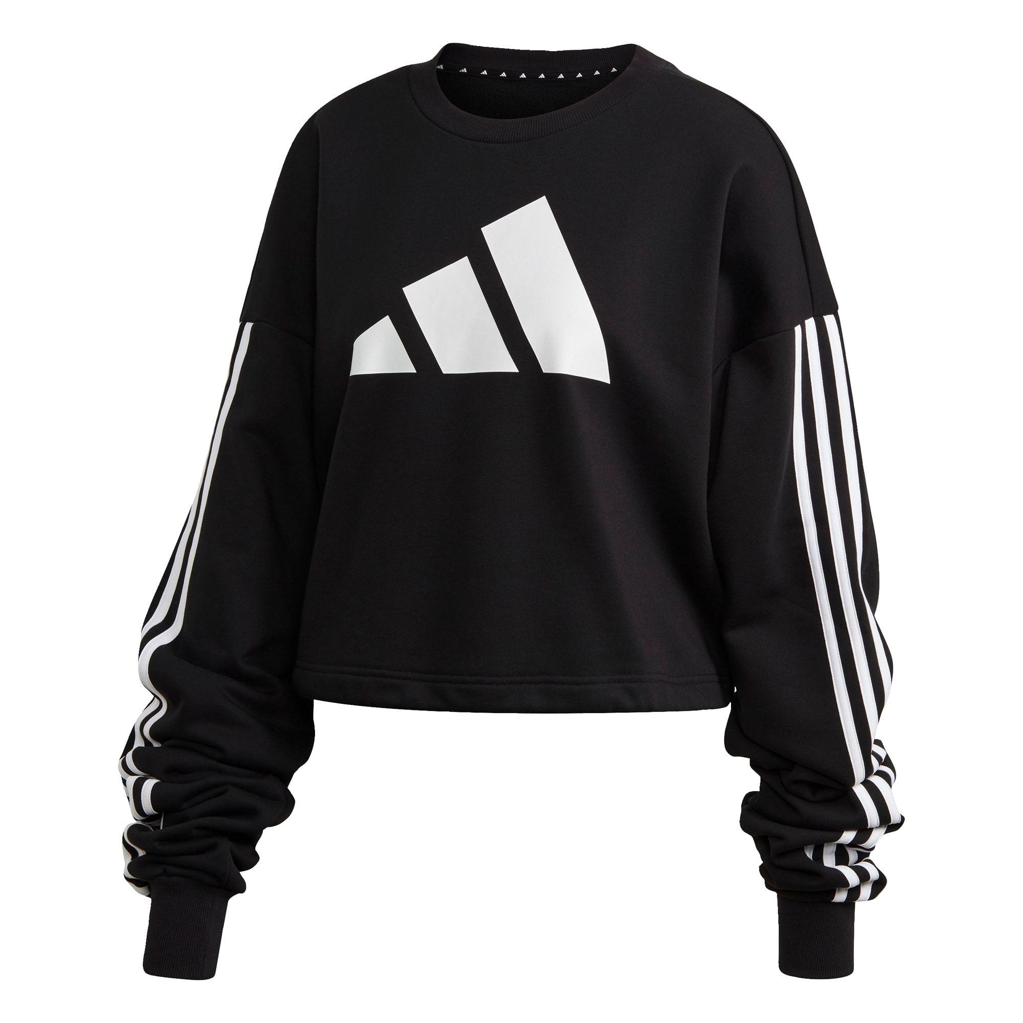 Adidas Performance Damen Schwarz Wei Szlig Gr Ouml Szlig E Xxl In 2020 Sweatshirt Schwarze Adidas Kurze Schnitte