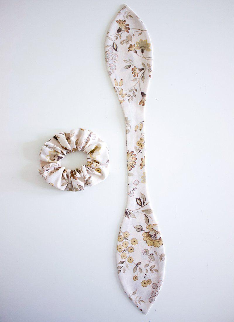 hemming- scrap fabric diy bow