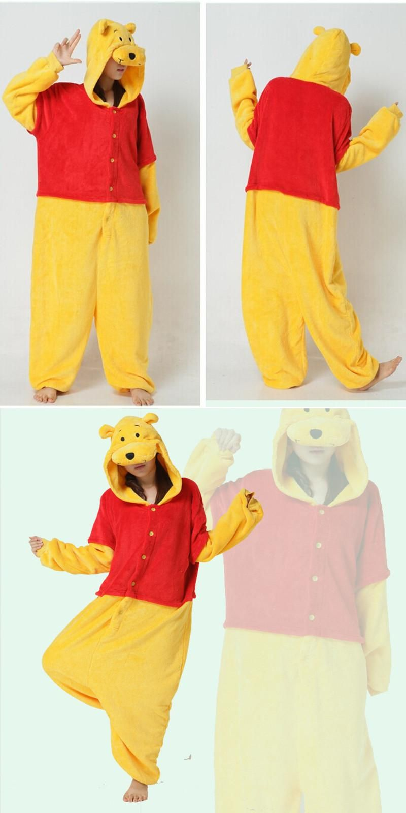 Bear Costume Women Menu0027s Jumpsuit Halloween Party Cosplay Camouflage Costumes For Adults (not include slipper  sc 1 st  Pinterest & Bear Costume Women Menu0027s Jumpsuit Halloween Party Cosplay Camouflage ...