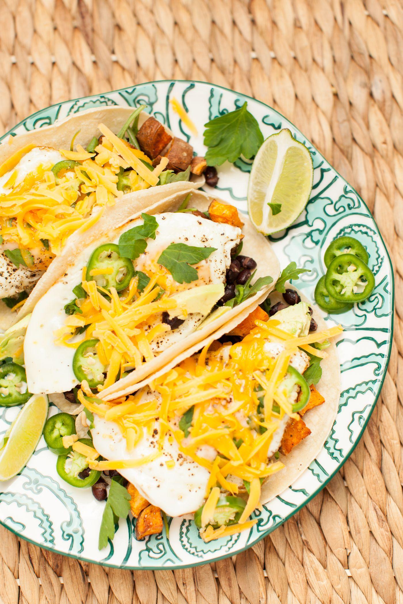 Fig & Thyme - Sweet Potato Huevos Rancheros Tacos