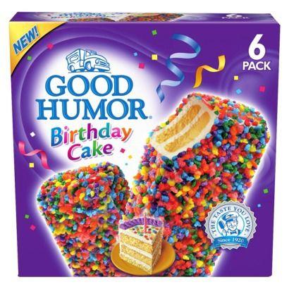 Admirable Good Humor Birthday Cake Ice Cream Bar 6 Ct With Images Good Birthday Cards Printable Benkemecafe Filternl