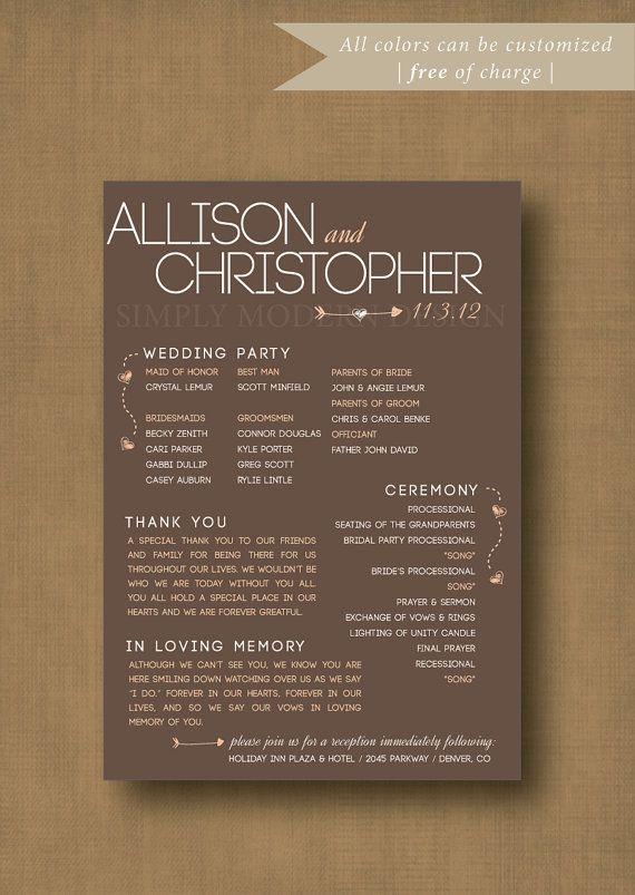 Printable Rustic Modern Fun Wedding By Xsimplymoderndesignx
