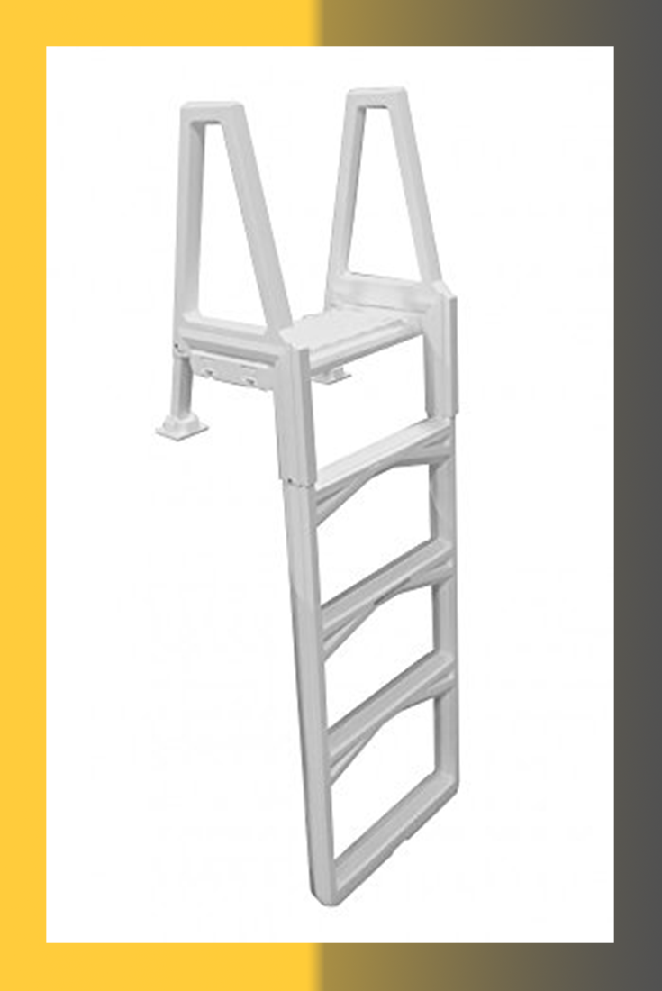Confer Gray Economy Above Ground In Pool Ladder 635 52x Swimming Pool Ladders Above Ground Swimming Pools Pool Ladder