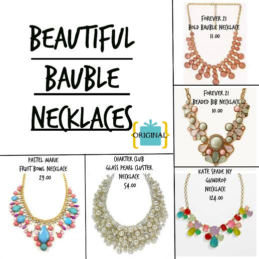 Beautiful Bauble Necklaces