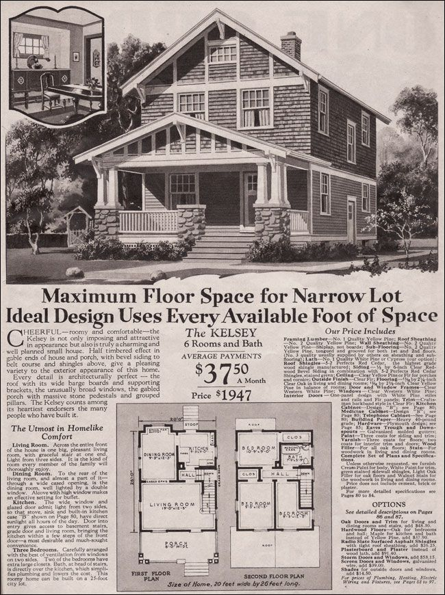 1930 Montgomery Ward Kelsey This Has The Front Door And Stairs
