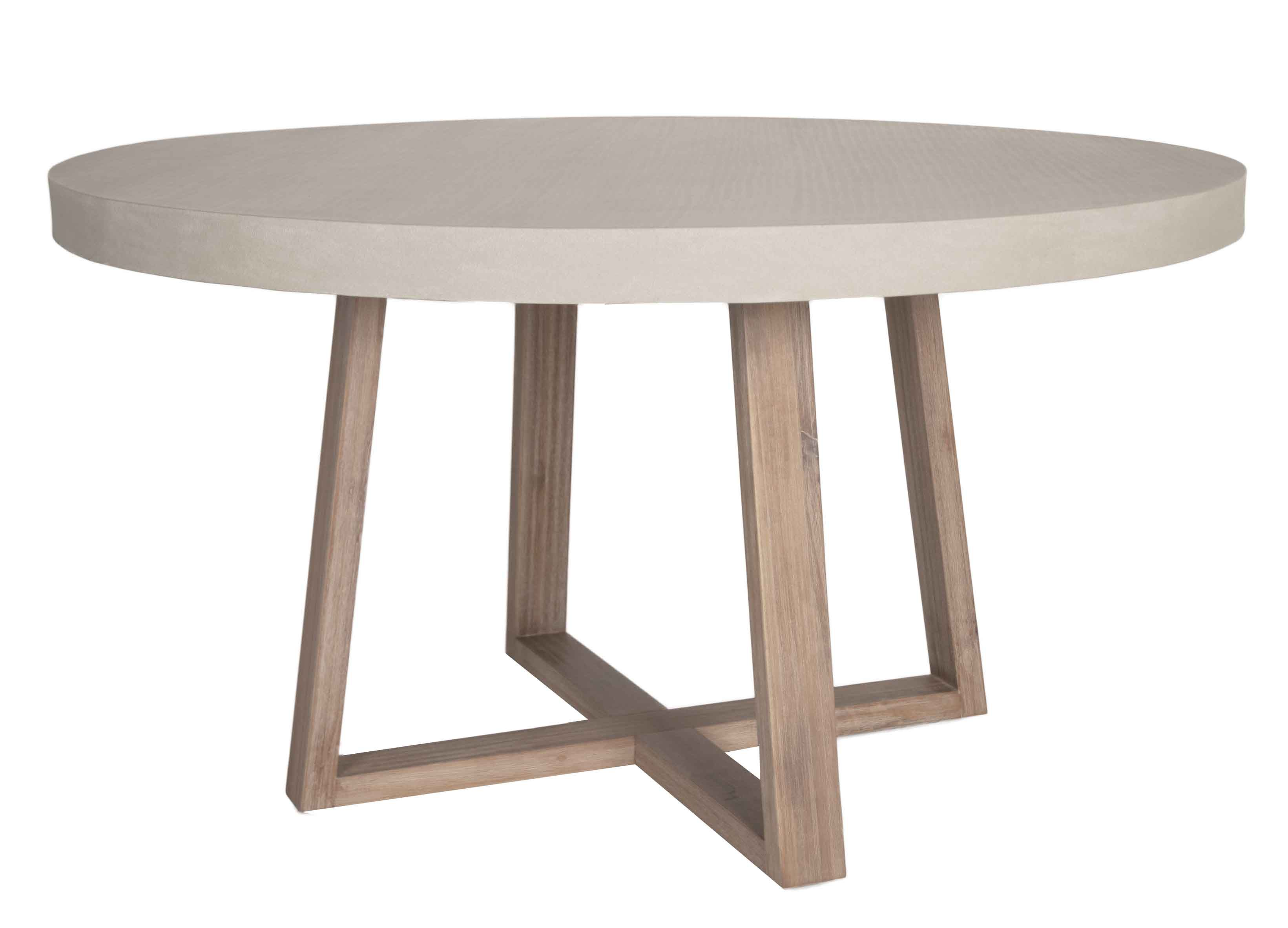Stoneham Round Dining Table  Top Is A Resin And Concrete Mixture Custom Stone Top Dining Room Tables Design Inspiration